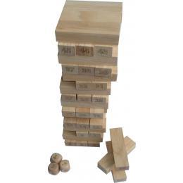 Number Jenga Learning Blocks Play Dice Game
