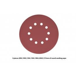 6 Pieces 10 Holes Sanding Discs Sander Paper For Drywall Sander