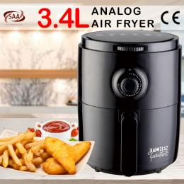 Kitchen Couture Air Fryer Cooking Recipe 3.4L Capacity Black