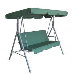 Milano Outdoor Swing Bench  3 Seater Garden Hammock - Dark Green