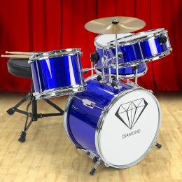 Kids 4 Piece Drum Kit - BLUE