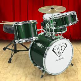 Kids 4 Piece Drum Kit - GREEN