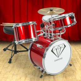 Kids 4 Piece Drum Kit -RED