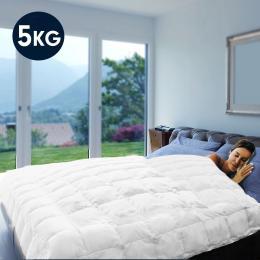 Laura Hill Weighted Blanket Heavy Quilt Doona 5Kg - White
