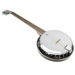 Karrera 6 String Resonator Banjo -  Black