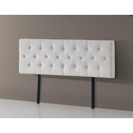 Linen Fabric Queen Bed Deluxe Headboard Bedhead Buttoned - Beige