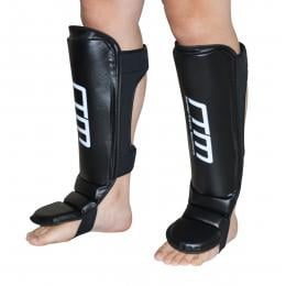 Gel Shin Instep Foot Pads Mma Ufc Leg Kick Guards  Thai Boxing - Large