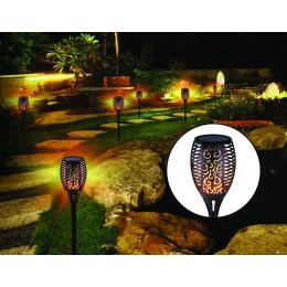 10 Pack Solar Torch Lights 96 Led Flickering Lighting  Garden Lamp