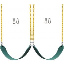 2 Pack Swings Seats Heavy Duty 66In Chain Plastic Coated Playground