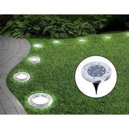 12x Solar Powered Led Buried Inground Recessed Light Garden