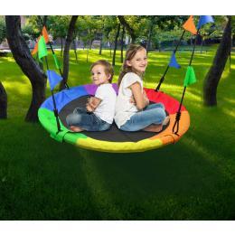 1m Tree Swing In Multi-color Rainbow Kids Indoor/outdoor Round Mat