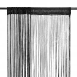 String Curtains 2 Pcs 100x250 Cm Black