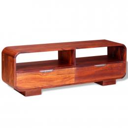 Tv Cabinet Solid Sheesham Wood 116x30x40 Cm