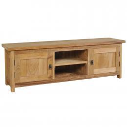 TV Cabinet Solid Teak Entertainment Unit 120x30x40cm