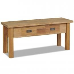 Hall Bench Solid Teak 90x30x40cm