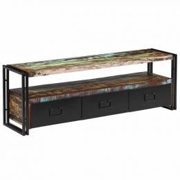 Tv Cabinet Solid Reclaimed Wood 120x30x40 Cm