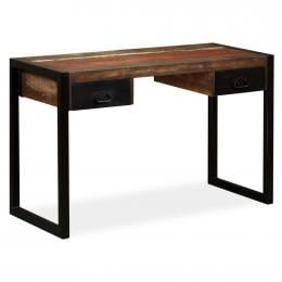 Desk With 2 Drawers Solid Reclaimed Wood 120x50x76 Cm