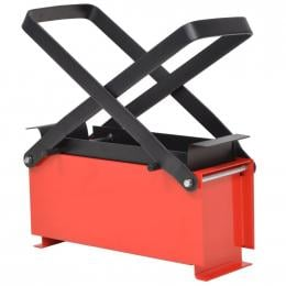 Paper Log Briquette Maker Steel 34x14x14 Cm Black And Red
