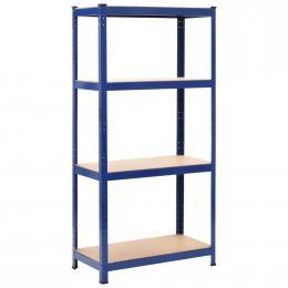 Storage Shelf Blue 80x40x160 Cm Steel And Mdf