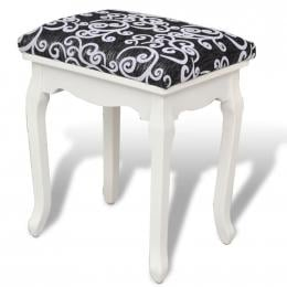 Dressing Stool Black Fabric