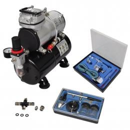 Airbrush Compressor Set With 2 Pistols
