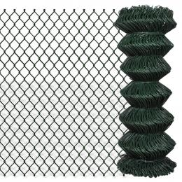 Chain Link Fence Galvanised Steel 1x25 M Green