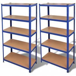 Storage Shelf Blue 2 Pcs