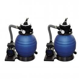 Sand Filter Pumps 2pcs 400 W 11000 L/h
