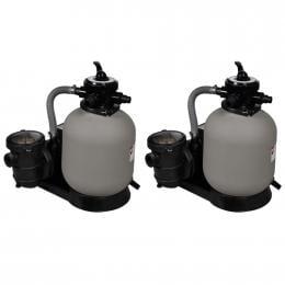 Sand Filter Pumps 2 Pcs 600 W 17000 L/h