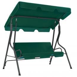 Garden Swing Chair Green 170x110x153 Cm Fabric
