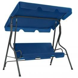 Garden Swing Chair Dark Blue 170x110x153 Cm Fabric