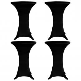 Standing Table Cover 60 Cm Black Stretch 4 Pcs