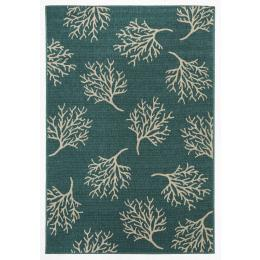 Coral Reef Turquoise Outdoor Rug 160x110cm