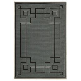 Shanghai Teal Outdoor Rug 160x110cm