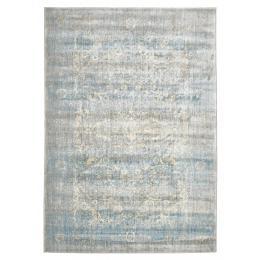 Mist Stunning Designer Rectangular Floor Rug Silver Blue
