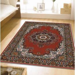 Traditional Pattern Medallion Rectangular Floor Rug Red