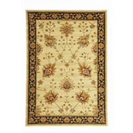 Classic Chobi Design Rectangular Floor Rug - Ivory