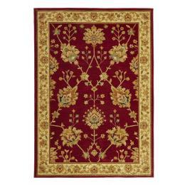 Classic Chobi Design Rectangular Floor Rug - Red