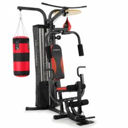 Powertrain Home Gym Station w/ Boxing Punching Bag & Speed Ball