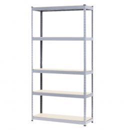 5 Shelf Storage Rack - Galvanized Steel 180x90cm