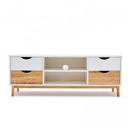 Cassina 120cm TV Cabinet Stand Entertainment Unit White Oak