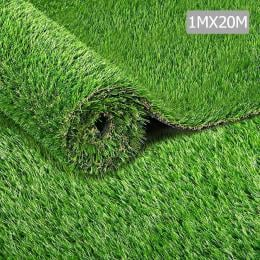1m x 20m 20SQM Synthetic Turf Artificial Grass Plant Fake Lawn 30mm