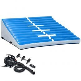 2MX2MX0.6M Airtrack Inflatable Air Track Ramp with Pump Incline Mat