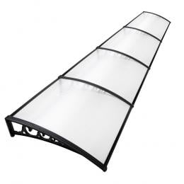 Window Door Awning Door Canopy Patio UV Sun Shield WHITE 1mx4m DIY