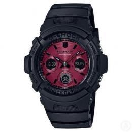 Casio Analog-Digital Sport G-Shock Black/Red Mens Solar Watch...