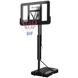 3.05M Basketball Hoop Stand System Ring Portable Net Height Black