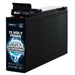 12V 170AH AGM Deep Cycle Battery Portable 4WD Sealed Marine Solar Slim