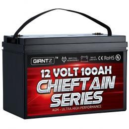 100Ah Deep Cycle Battery 12V AGM Marine Power Portable Box Solar