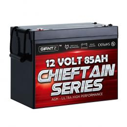 85Ah Deep Cycle Battery 12V AGM Marine Sealed Power Portable Box Solar