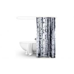 Polyester Waterproof Bathroom Shower Curtain Birch 180x200cm